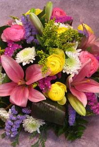 Centro mediano multicolor Flores Lantana