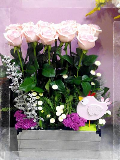 Rosas en paralelo Flores Lantana