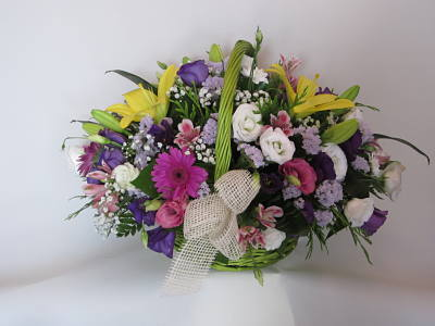 Cesta primaveral Flores Lantana